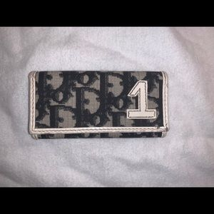 Authentic Christian Dior trotter key card case